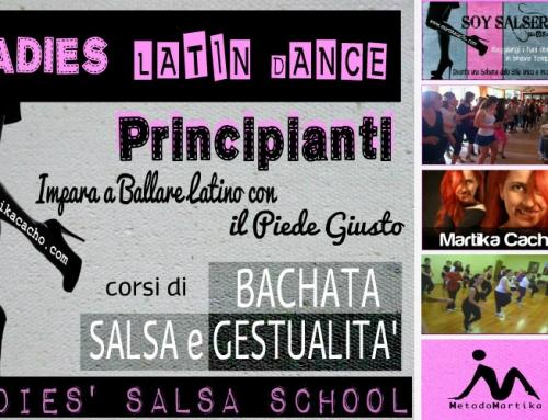 Corsi principianti di Bachata e Salsa per donne. Ladies Latin Dance
